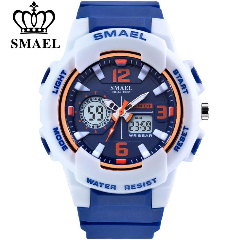 omen's Watches SMAEL Brand Fashion Women Sports Watches LED Digital Quartz Military Clock Man Watch Boy Girl Student Multifunctional Wris...