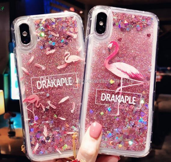 8 5 New 2019 Flash powder liquid protective sleeve iPhone 6s 6p X xr XS max  7 8plus Mobile phone shell with quicksand