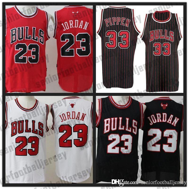 best website 220d9 061e1 Chicago 23 Michael Bulls Jersey Dennis 91 Rodman Scottie 33 Pippen 23 MJ  Red Black Mens NCAA Basketball Jerseys Cheap