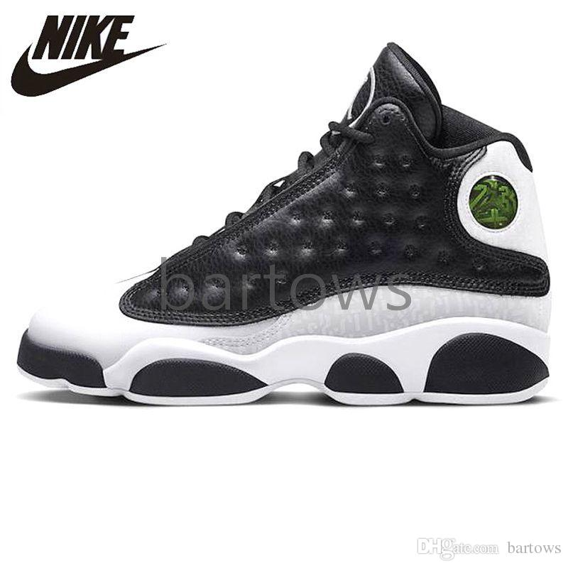 best sneakers 03cc2 346f2 2019 NIKE AIR JORDAN 13 GS Love Respect Pack Men Basketball Shoes Jordans  Airs 13S XIII Black White Original Outdoor Sneakers Shoes 888165-012 ...
