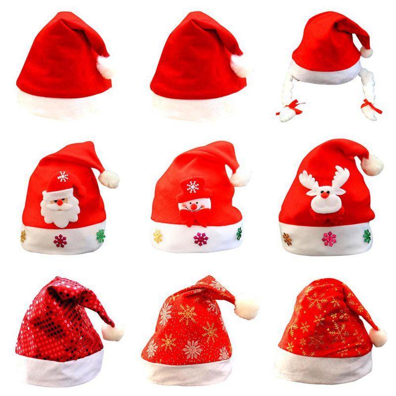 Compre Gorro De Navidad Adornos Sombreros De Santa Para Accesorios ...