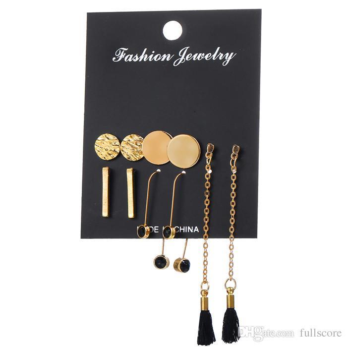 Antique Gold Round Shape Punk Style Earrings Set for Women Mix Flower Leaf  Ear Studs Jewelry Long Tassel Earring Accessories Sexy Earing Fashion Star  Earing ... 1e2761199b2e