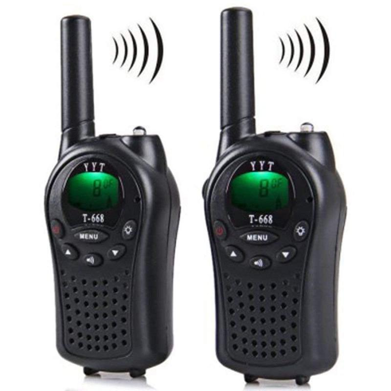 Two Way Radio Walkie Talkie 2 Pieces T-668 Handheld Auto Multi Channel 5km