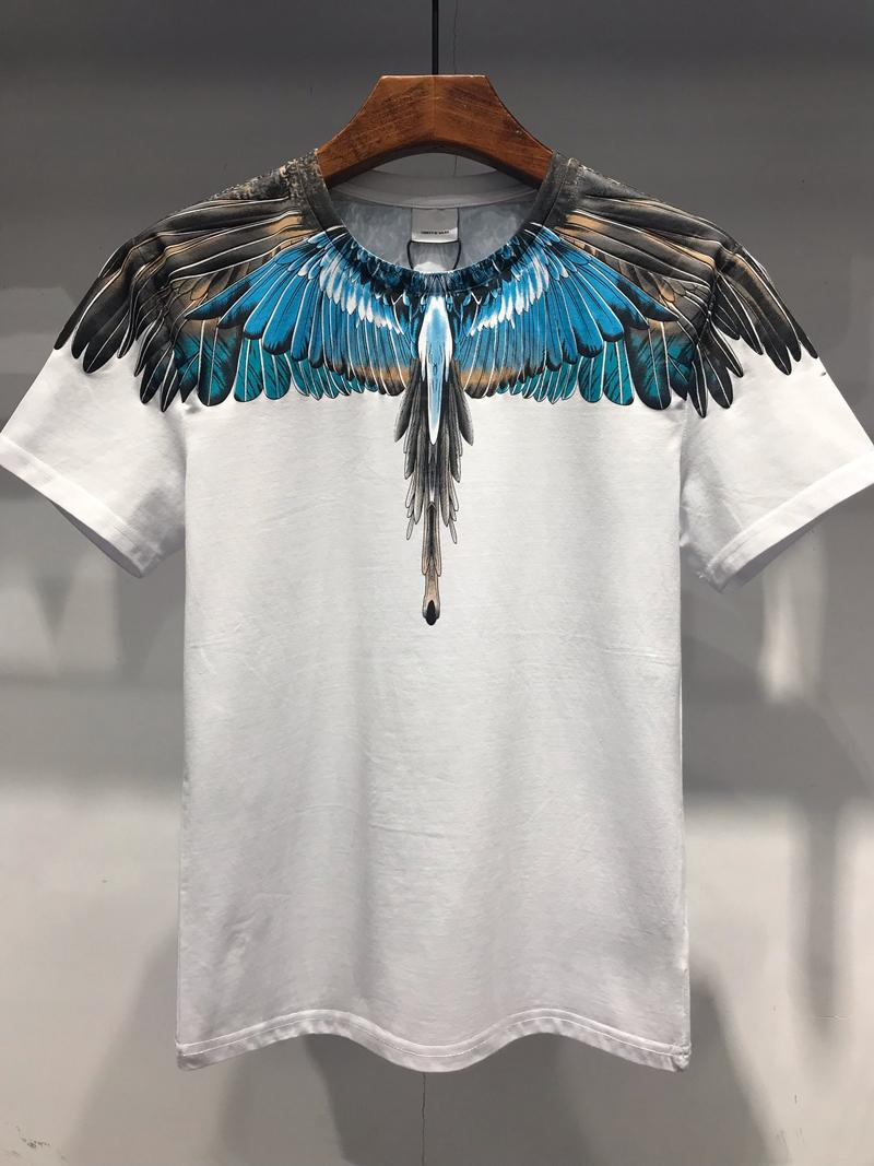 19SS The New Style Bird Feather Print Series Designer T Shirts MARCELO BURLON Fashion T Shirt