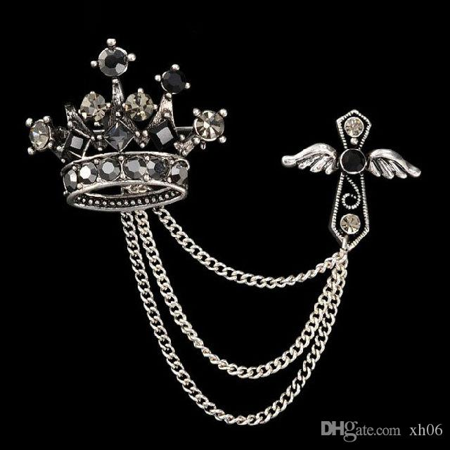 102e6b19e New Women Men Brooch 2019 NEW Vintage Unisex Brooch Crystal Crown ...