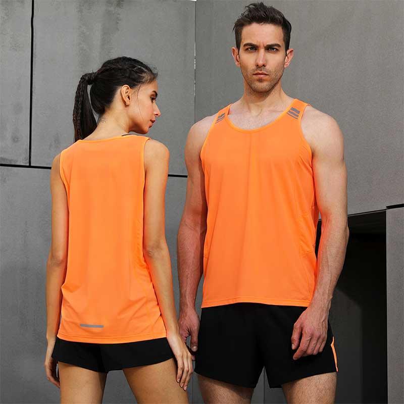 Acheter Hommes Femmes Costumes De Sport Marathon Gilet + Shorts Gilets À  Séchage Rapide Vêtements De Course Vêtements D athlétisme Vêtements Jogging  Running ... 07484a7f539