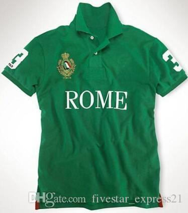 new styles 54255 e07af Super Paris Herren Poloshirt mit Pferd Baumwollkragen T-Shirts Sport Polos  Tops Größe S-XXL Weiß