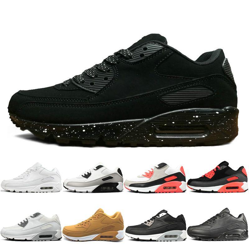 1d6b5c29b6 Fashion Sport Shoes Men And Women Running Shoes Triple Black White ...