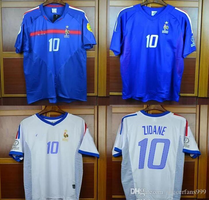 f02b8e1df 2019 TOP Retro Soccer Jerseys 2002 2004 France Home Away White Zidane Henry  Trezeguet 02 04 Jersey Football Shirt From Soccerfans999