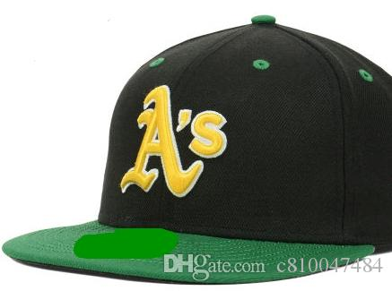 92ce5df8a96 Fitted Hats Sunhat Athletics Baseball Embroidered Team Letter Flat ...