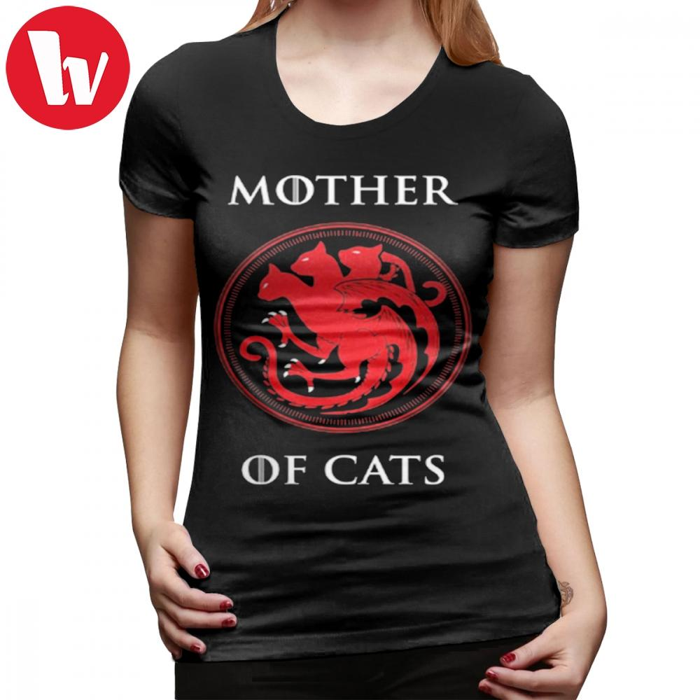 Mother Of Dragons T-Shirt MOTHER OF CATS T Shirt Cotton Large Women ... 9d53dfc8db