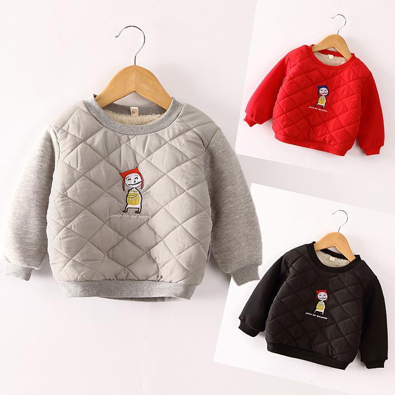 20b4386adbb6 Good Quality 2019 Autumn Winter Girls Boys Sweater Outfits Kids ...