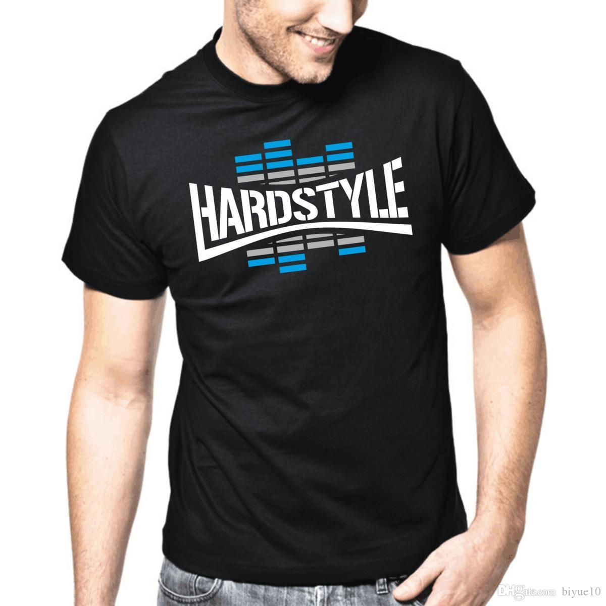 Hardstyle Blue EQ | Classic Style DJ Equalizer Music S-3XL T-Shirt Summer  Casual Man T Shirt Good Quality Top Tee