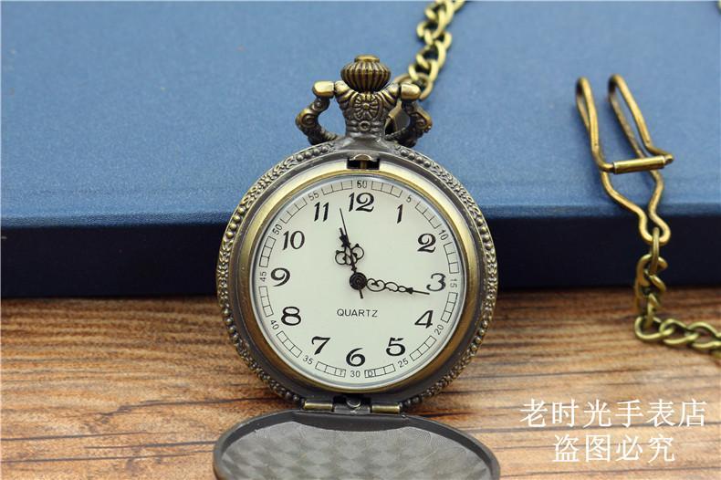موضة جديدة العتيقة steampunk خمر الجيب ووتش النساء والرجال الغولف تصميم الكوارتز قلادة فوب سلسلة هدية عيد ساعة