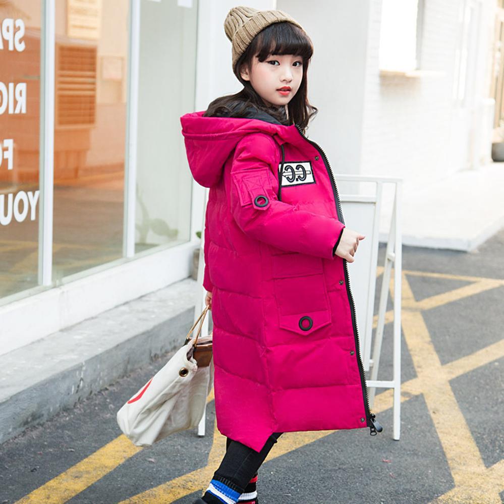 e673eba7e Compre Niñas Chaqueta Larga Sección Coreana Ropa De Niños Prendas De Vestir  Exteriores Engrosamiento Invierno Ropa De Niños Para Adolescentes 6 8 10 12  14 ...