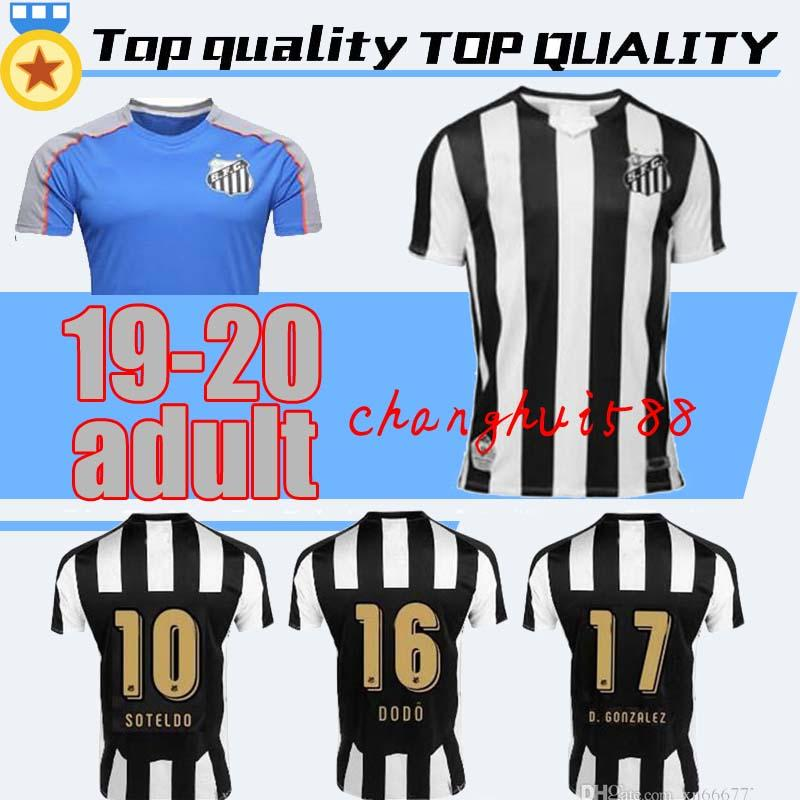 0a1c10a01e5 2019 2019 2020 Santos FC Soccer Jersey Top Quality 19 20 Santos Home Away  Gabriel RODRYGO DODO RENATO SASHA Football Jerseys Uniforms Shirts From ...