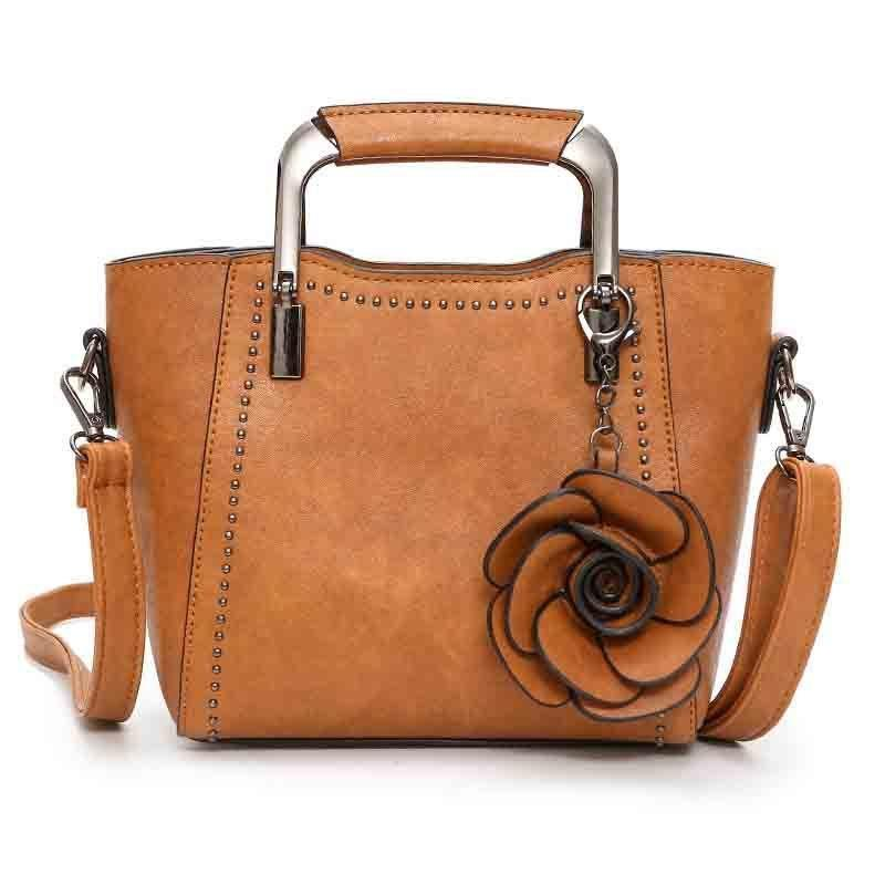 2f36617cbf Women S Solid Color Pu Classic Fashion Brand Portable Handbag Dignified  Generous Simple Wild Large Capacity High Quality Handbag Crossbody Purses  Ladies ...