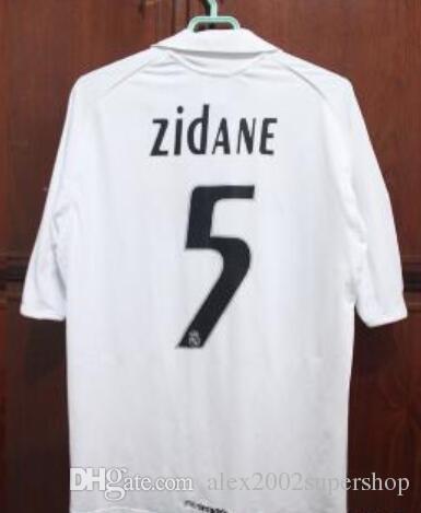 ef6e58475 2019 Long Sleeve Retro 2005 2006 Real Madrid Home White Jersey Sergio Ramos  KAKA ZIDANE Beckham 05 06 RAUL Jersey From Alex2002supershop