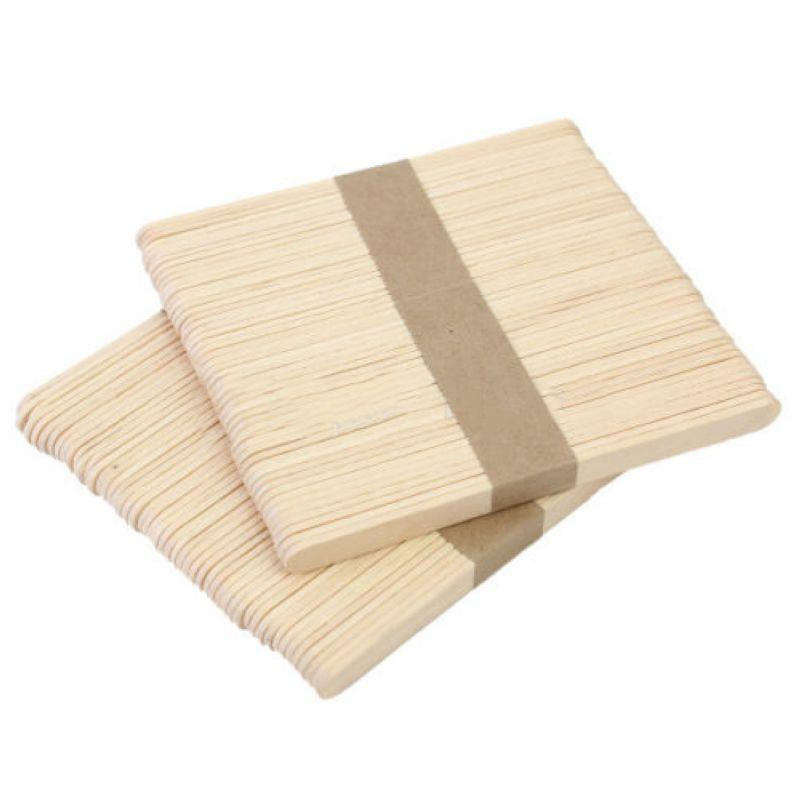 Shellhard 100x Disposable Waxing Wooden Tongue Depressor Body Hair Removal Stick Tongue Depressor