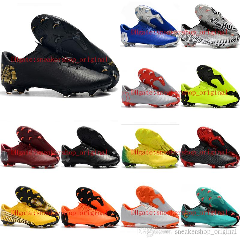 c47a3e194fa 2019 Mens Soccer Shoes Mercurial VaporX XII PRO CR7 FG Soccer Cleats  Mercurial Superfly Outdoor Football Boots Scarpe Da Calcio Childrens Tennis  Shoes Boys ...