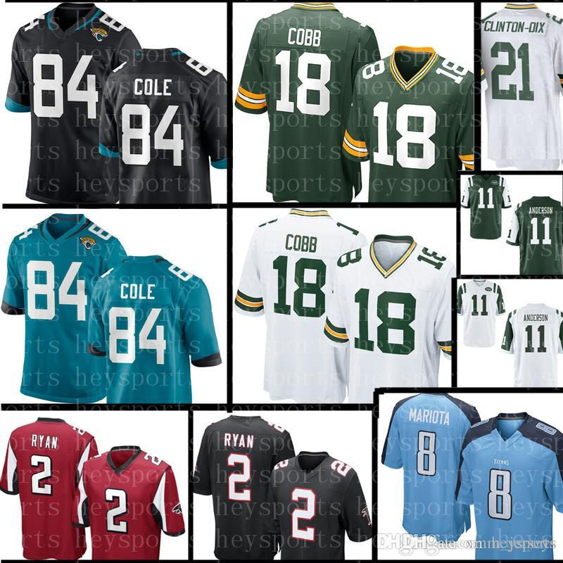 Jacksonville Jaguars 84 Keelan Cole Jersey Atlanta Falcons 2 Matt Ryan 18  Randall Cobb New Green Bay Packers Jerseys Free Shipping Stitched Logos  Cheap ... 90d3b4bc9