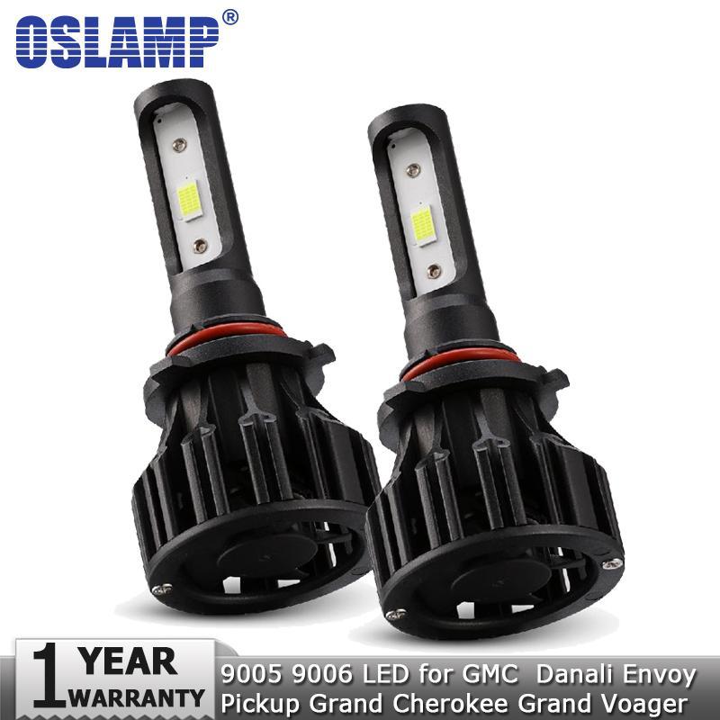 Oslamp 9005 9006 72W 8000LM Car LED Headlight Bulb 12V 24V Auto Headlamp  for GMC Danali Envoy Pickup Grand Cherokee Grand Voager