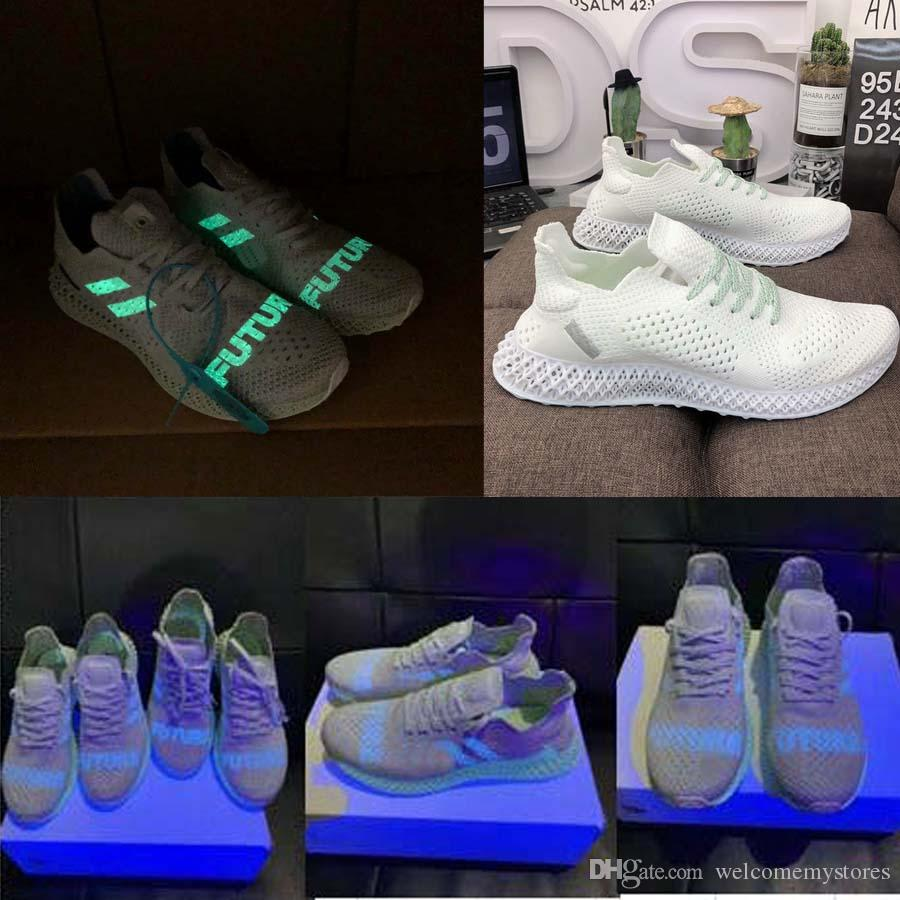 2019 fluorescence alphaedge 4d brand sneakers consortium runner inv x Daniel Arsham futurecraft 4d Print Global limit running shoes 40-45