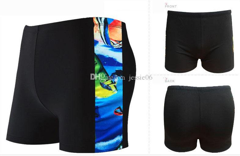 Men's swimming trunks classic Korean sports fashion adult shorts trend hot springs boyshort swimwear Swimsuit new EMS gift