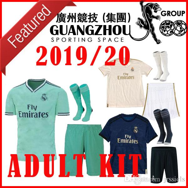 newest b0d67 6c3e1 adult kit 19 20 real madrid HOME AWAY SOCCER jerseys 2019 2020 MODRIC  MARCELO BENZEMA bale MARIANO third special edition men football shirts