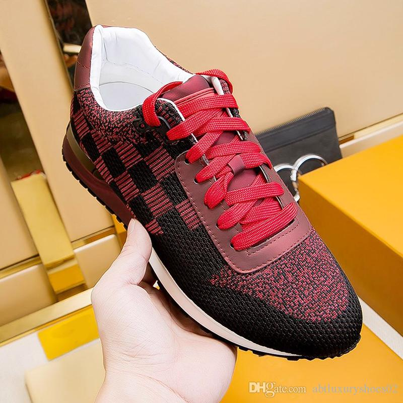 4cbde9c51 Mens Run Away Sneakers Sports Shoes Casual Fashion 2019 Fashion Racing  Runner Casual Style Trendy Platform Trainers Athletic Fitness Sale Red Shoes  Footwear ...