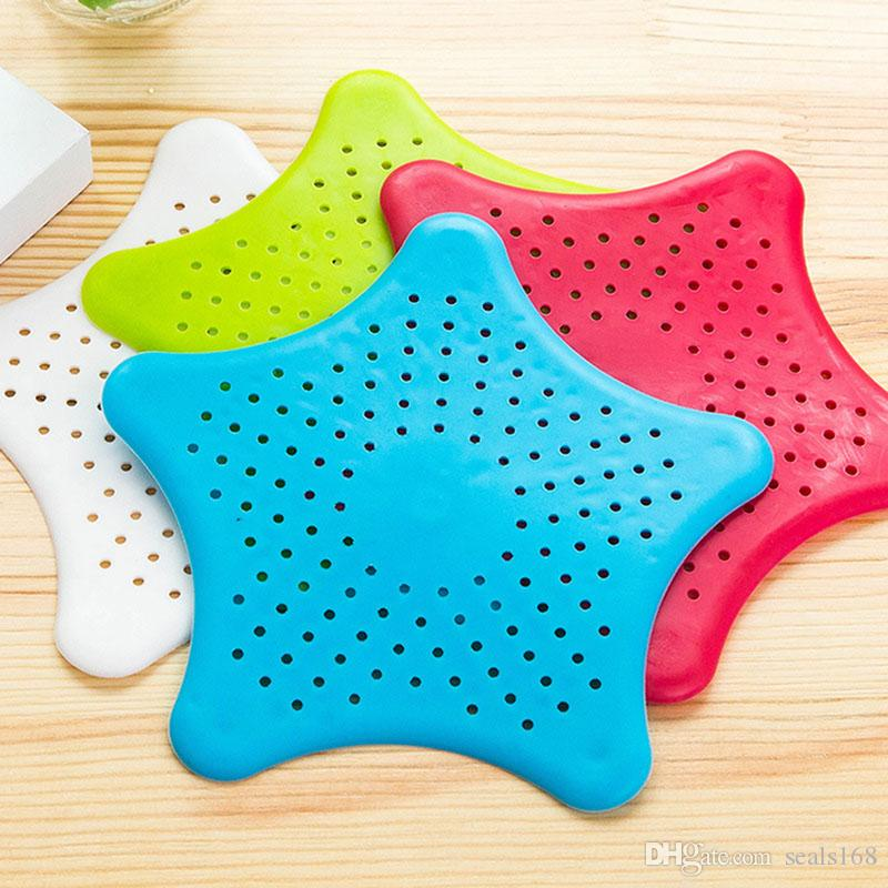 Kitchen Bathroom Sea Star Sucker Filter Sink Drain Stopper Anti-clogged Floor Sewer Outfall Hair Filter Colanders Strainer Supplies HH9-2290