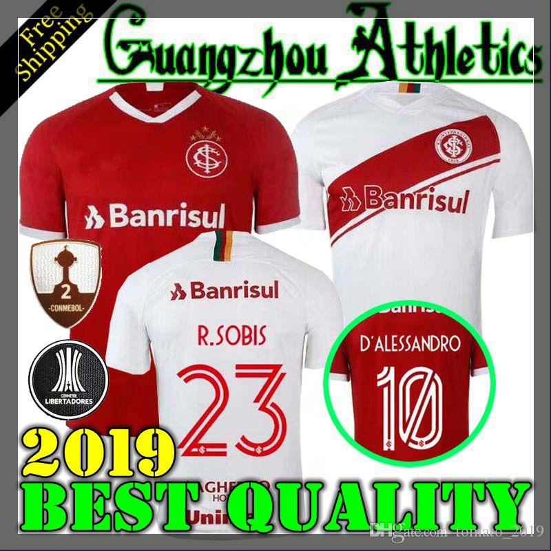 081b4797c57 2019 19 20 Brazil CLUB Sport Internacional Soccer Jersey HOME Away 2019  2020 SC Internacional Football Shirt N. LOPEZ D.ALESSANDRO POTTKER From  Tomato 2019