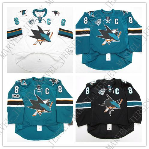 info for e34f3 42672 Cheap custom PAVELSKI SAN JOSE SHARKS HOME 25th 100th ANNIVERSARY JERSEY  stitch add any number any name Mens Hockey Jersey XS-5XL