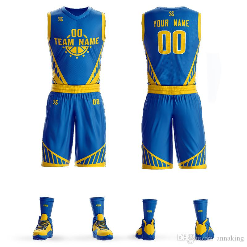 e4da9e81e9bf 2019 Wholesale Custom Mens Youth Basketball Uniform Design ...