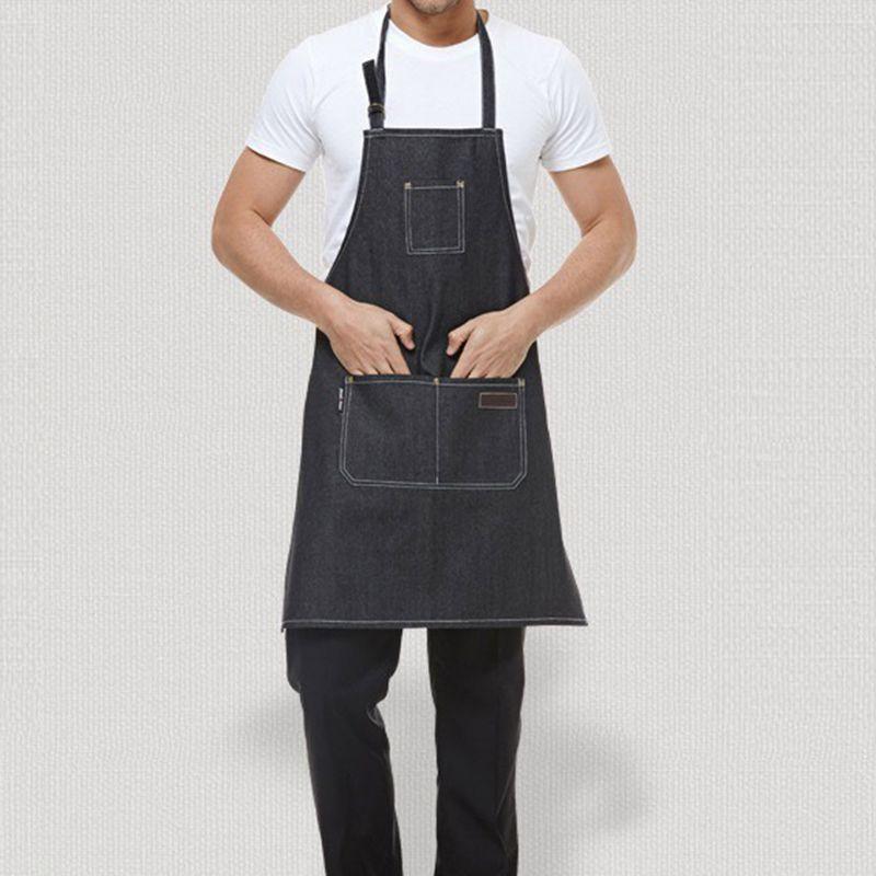 2018 Senior Denim Cowboy BBQ Apron Bib Chefer Kitchen Apron For ...