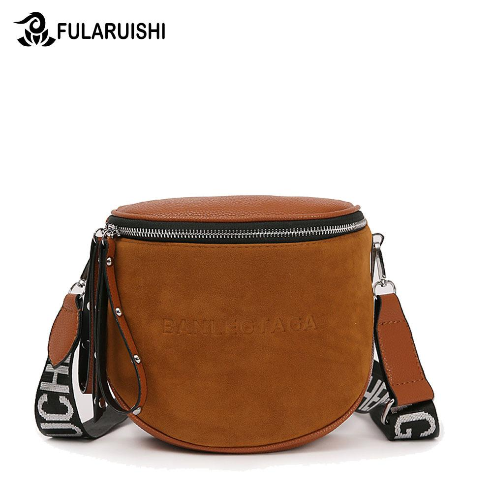 46381f750c7 Designer Fularuishi Crossbody Bag For Women Messemger Bags Pu Leather  Shoulder Bag Fashion Famous Brand Lady Semicircle Saddle Wholesale Bags  Over The ...