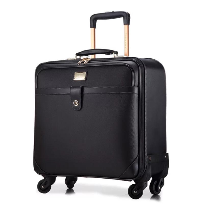 9901196ac222 Brand Business PVC Trolley Luggage Universal Wheel Carry On Suitcase  Fashion Travel Trolley Case 162024 Inch Bags Suitcases From Snappya