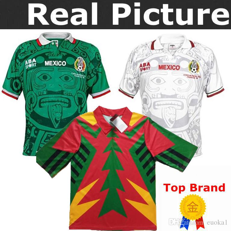 55f7dde8585 2019 1994 Mexico Retro Jorge Campos 1 Ramirez 7 Hernandez 15 H.SANCHEZ 9  TOP Best Quality 1998 Mexico JORGE CAMPOS BLANCO Arellano Soccer Jersey  From Euoka1 ...