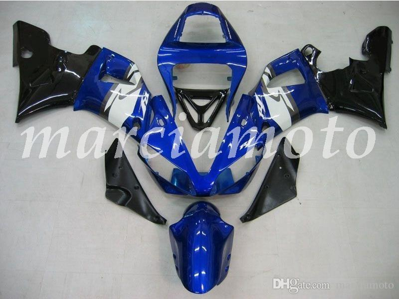 New (Injection molding) ABS Fairing Kits Fit For Yamaha YZF-R1 2000 2001 yzf-r1 00 01 Fairings set Blue Black