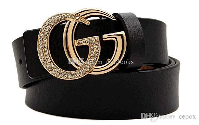Compre Diamante Cinturones Negros De Lujo Hebilla Bronceada Cinturones De Cuero  Genuino Para Hombres Diseñador Para Hombre Cinturón Mujer Cinturones De ... 77d6ed5eb03b