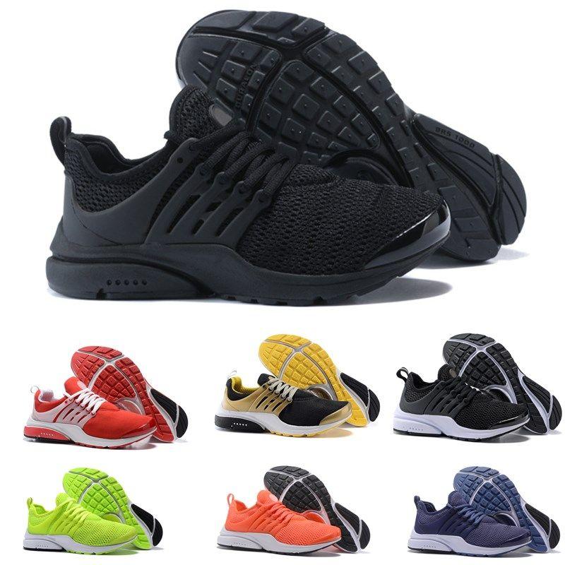 innovative design 376b6 61600 2019 Presto 5 BR QS Breathe Black White Yellow Red Mens Sneakers prestos  Women Running Shoes Sports Shoe Walking designer shoes