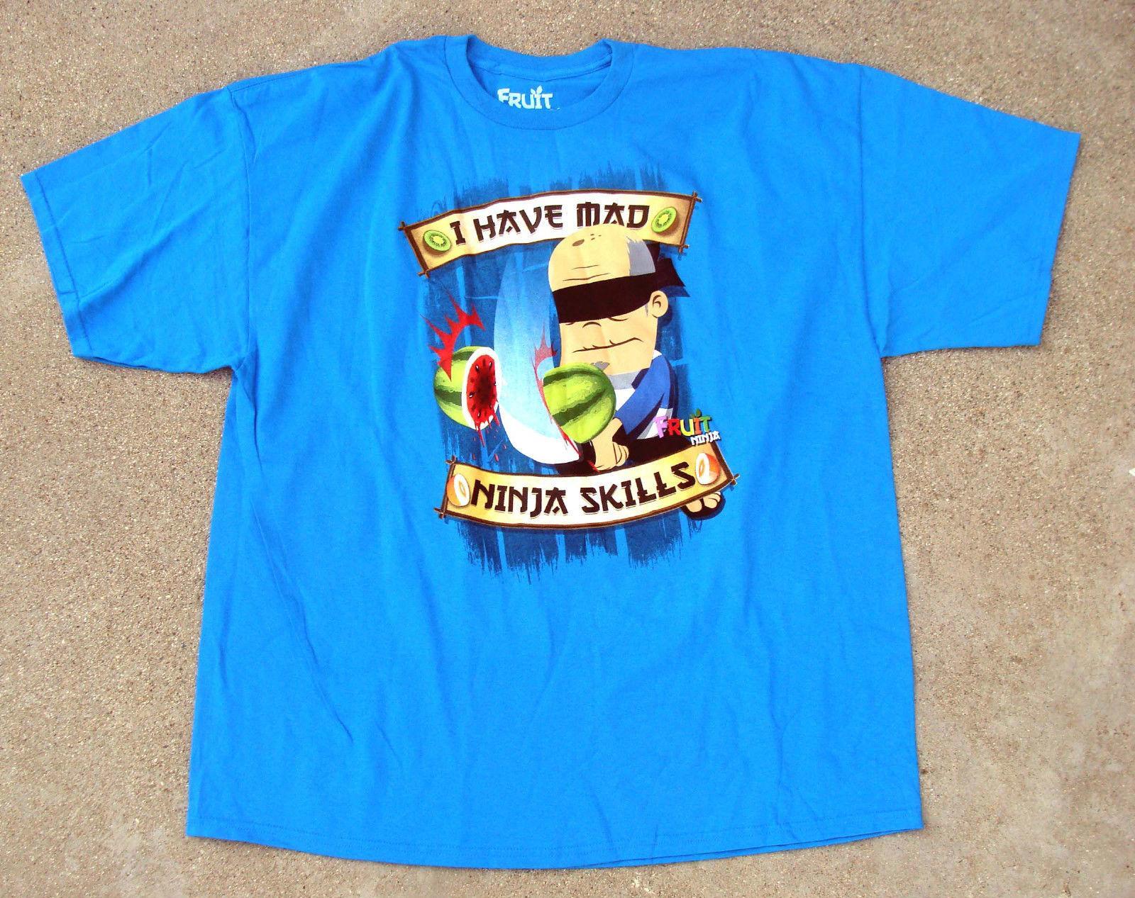f6f74f6ea Compre Fruta Ninja Azul Camiseta Homens Tamanhos Eu Tenho Louco Ninja  Habilidades NOVO Personalizado Camiseta Foto Do Texto Do Logotipo Dos  Homens Das ...
