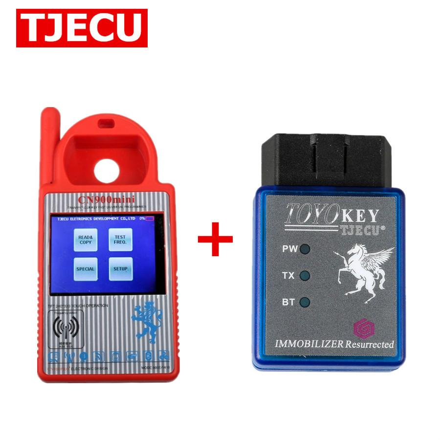 Mini CN900 Transponder Key Programmer 1.20.2.15 Plus TOYO Key OBD II Key Pro for 4C 46 4D 48 G H Chips