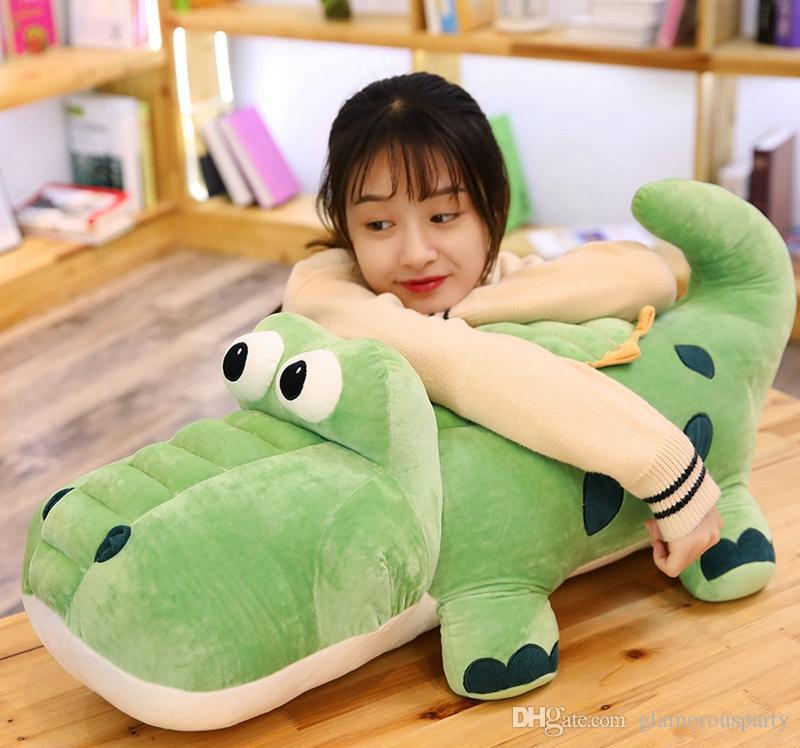 Cute Crocodile Doll Big alligator Plush Toy Cute Pillow Doll for Children Gift Decoration 33inch 85cm