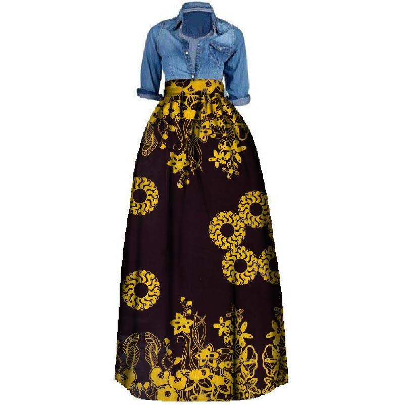 e923b8fbf95 New African Print Summer Skirt For Women Plus Size Dashiki African  Traditional Clothing Ball Gown Casual Skirts WY106 Cotton Dresses Sexy  Cocktail Dresses ...