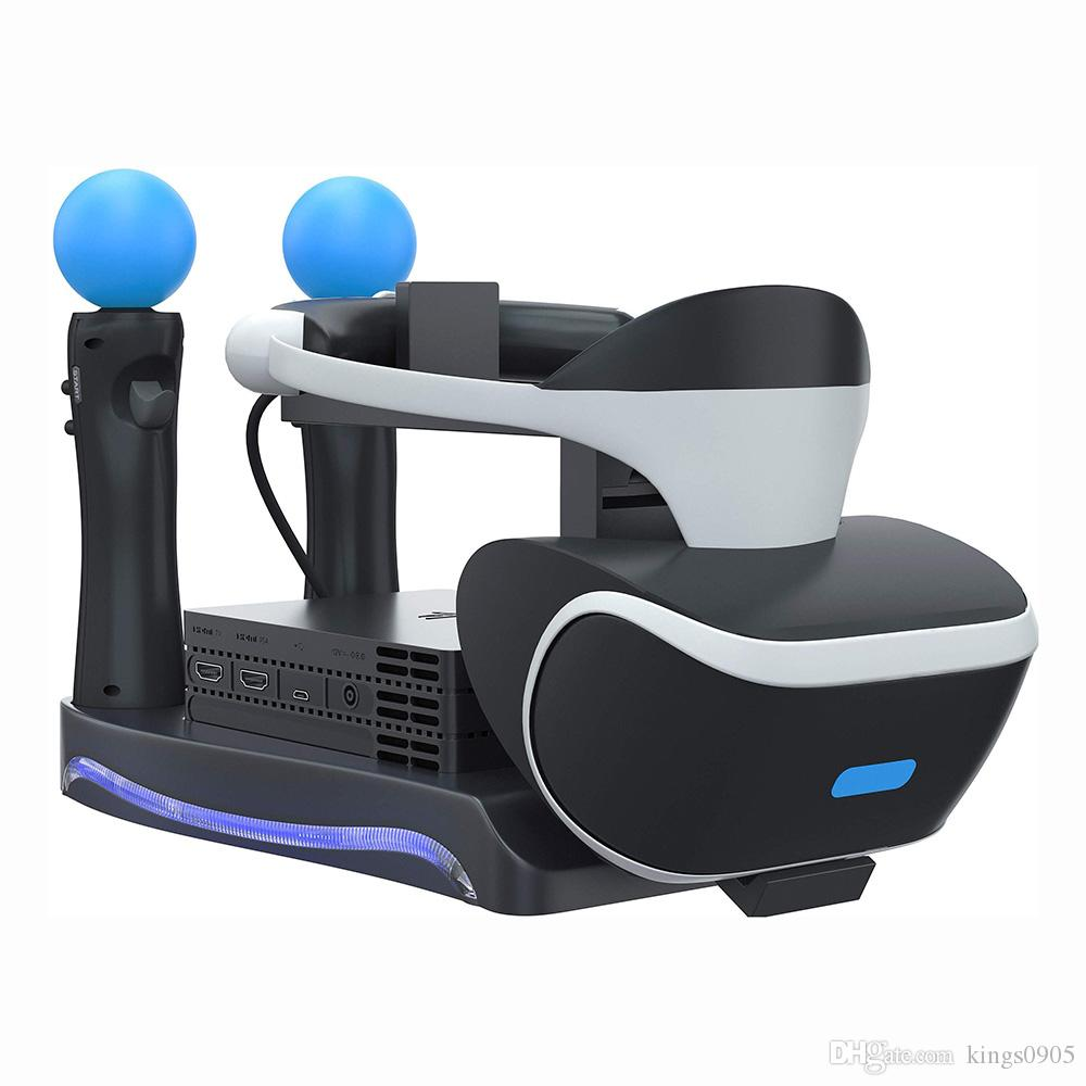 Hot sale PSVR Storage Stand Holder For PS4 VR PS VR Headset 2th Generation  Charging Station Display Cradle For PS Move Showcase free shipp
