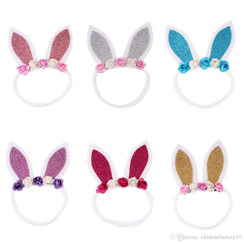 e59d3baeff26 Baby Easter Bunny Ears Headband For Festival Kids Fashion Rabbit Ears Bow  Cute Accessories Hair Accessories Holder Dance Hair Accessories From ...