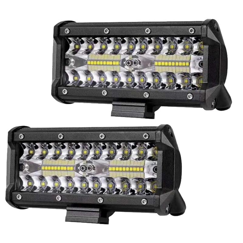 1pc 16.5*8cm 120W Combo Led Light Bars Spot Flood Beam for Work Driving Offroad Boat Car Tractor Truck 4x4 SUV ATV 12V 24V