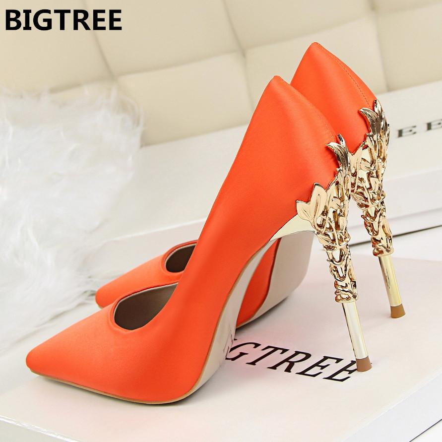 61ce30db63b6 2018 Women Pumps Sexy Pointed Toe Luxury Metal High Heels Shoes Woman  Spring Summer Women Party Wedding Shoes High Heels Zapatos Women s Pumps  Cheap Women s ...
