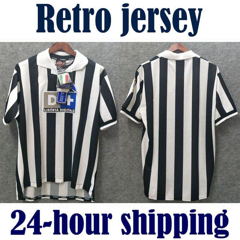 official photos 28246 c0150 1999 2000 Juventus Retro Soccer Jersey Conte Inzaghi Del Piero Zidane  Davids 1999 2000 Juve Football Shirts Vintage Camiseta Maillot de Foot